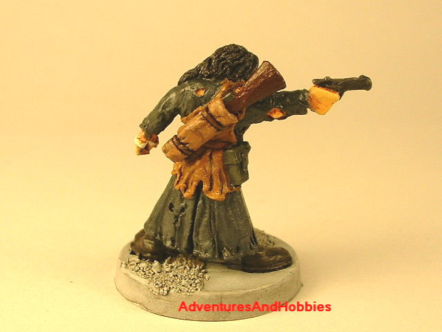 Post apocalypse civilain survivor 1 painted figure for role-playing games and table top war games rear view