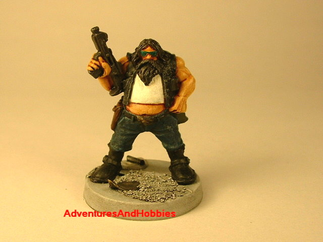 Post apocalypse civilain survivor 2 painted figure for role-playing games and table top war games front view