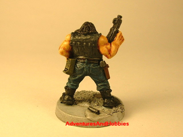 Post apocalypse civilain survivor 2 painted figure for role-playing games and table top war games rear view