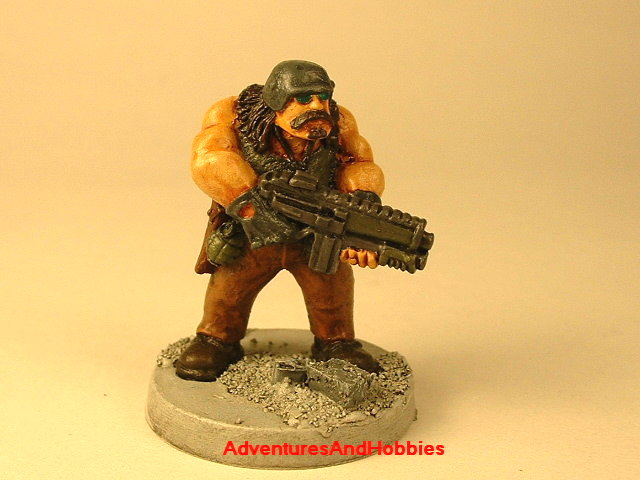 Post apocalypse civilain survivor 3 painted figure for role-playing games and table top war games front view