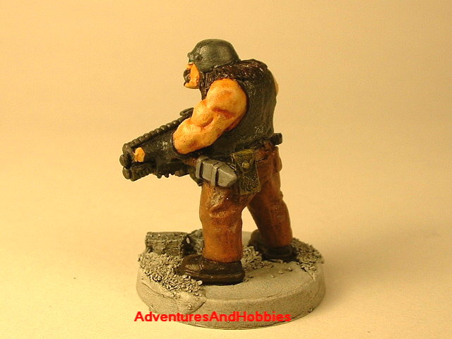 Post apocalypse civilain survivor 3 painted figure for role-playing games and table top war games rear view