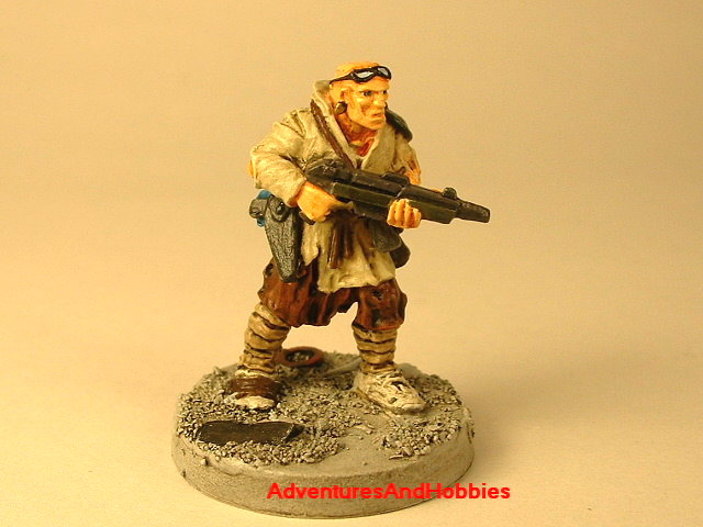 Post apocalypse civilain survivor 4 painted figure for role-playing games and table top war games front view