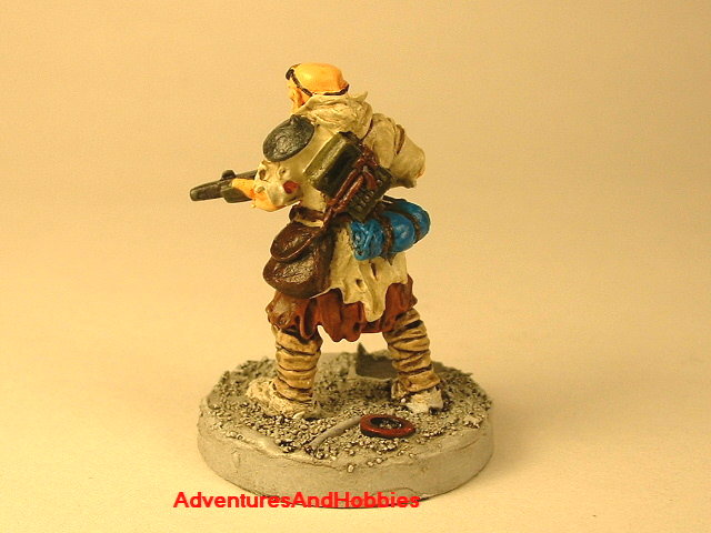 Post apocalypse civilain survivor 4 painted figure for role-playing games and table top war games rear view