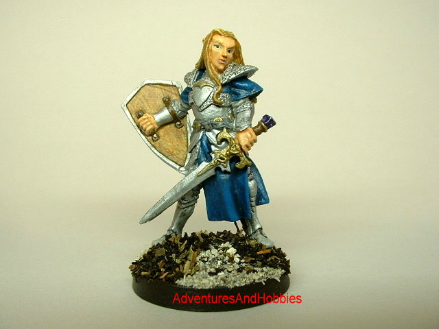 Elven knight with longsword and shield 25 mm fantasy miniature