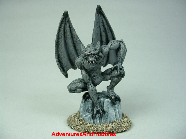 Gargoyle monster painted figure for fantasy and horror role-playing games and table top war games - front view