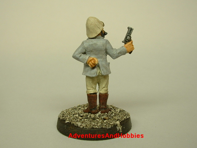 British exploer armed with revolver for Victorian Science Fiction role-playing or table top miniatures war game