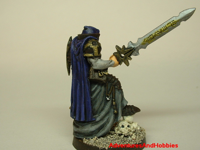 Evil paladin knight 28mm painted fantasy figure for use in role-playing games and table top war games side