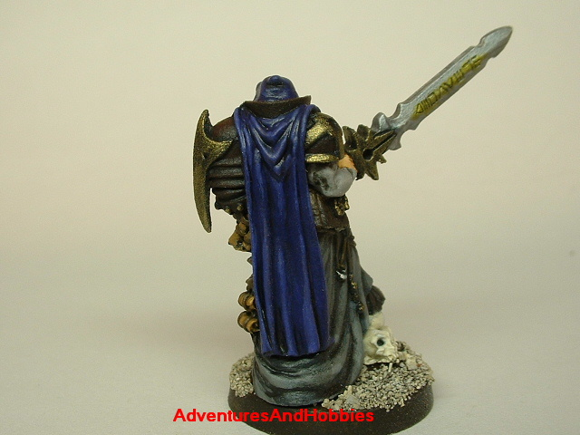 Evil paladin knight 28mm painted fantasy figure for use in role-playing games and table top war games rear
