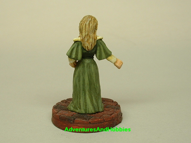 Victorian British Lady painted figure for use in role-playing games and table top war games rear