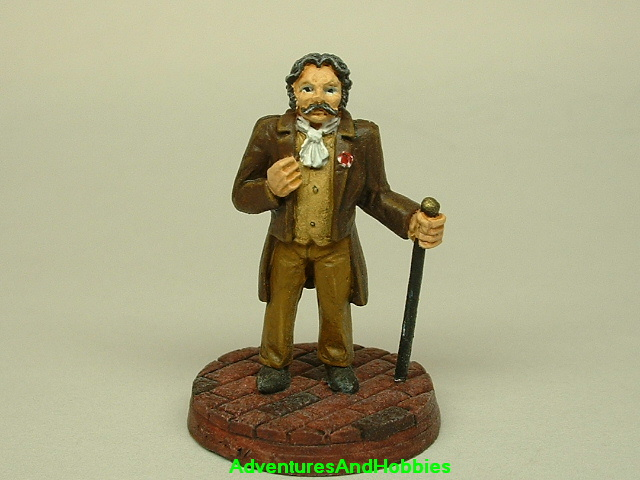 Victorian British Lord painted figure for use in role-playing games and table top war games front