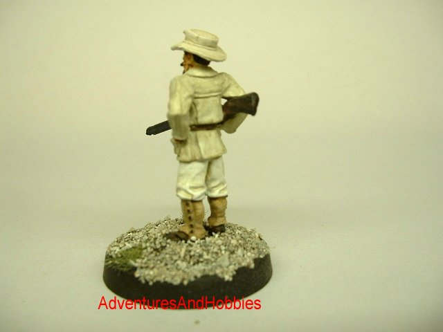 Allan Quatermain pulp hero 25 mm painted figure for use in role-playing games and table top war games rear view