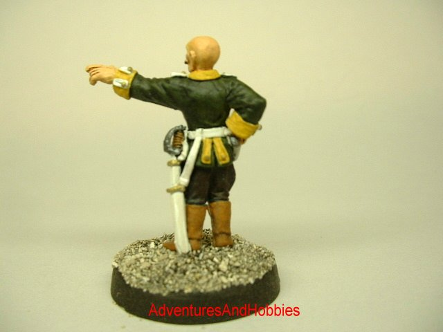 Imperial Baron Victorian Science Fiction, pulp action and Call of Cthulhu 25 mm painted figure for role-playing games and table top war games rear view