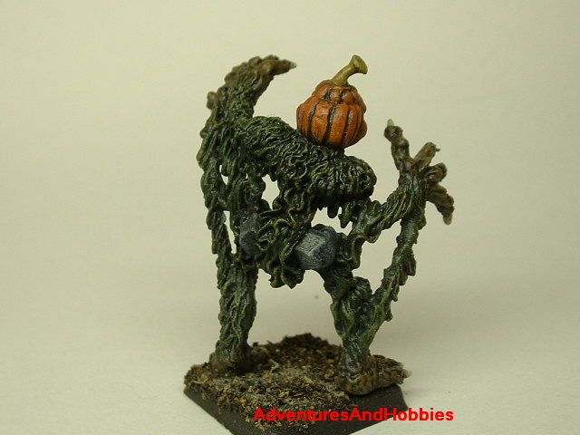 Halloween horror pumpkin patch monster painted figure for role-playing games and table top war games rear view
