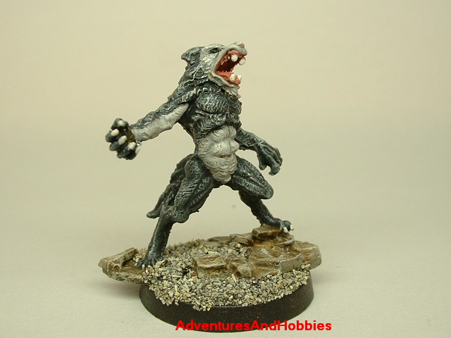 Werewolf monster painted figure for role-playing games and table top war games 25mm front view