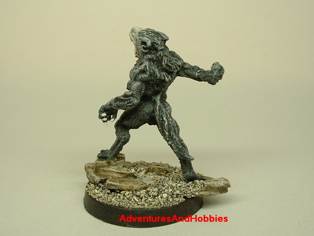 Werewolf monster painted figure for role-playing games and table top war games 25mm rear view