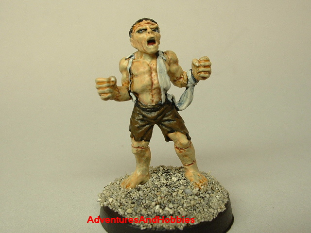 Frankenstein's monster 25 mm painted figure for horror role-playing games and table top war games front view