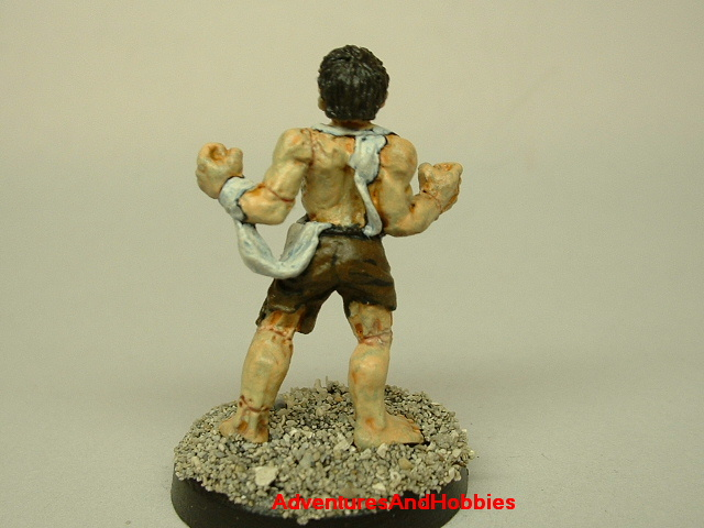Frankenstein's monster 25 mm painted figure for horror role-playing games and table top war games rear view